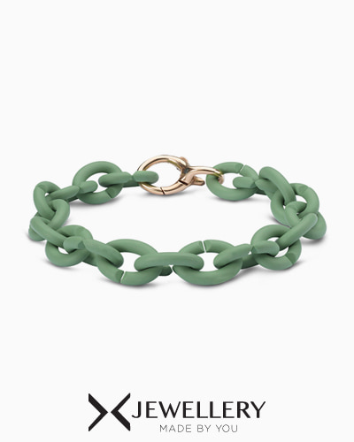 [X Jewellery] Pale Green Bronze Bracelet