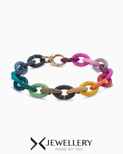 [X Jewellery] Rainbow Rubber Bracelet