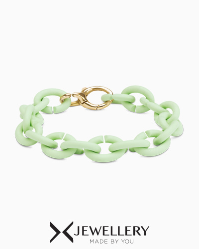 [X Jewellery] Mint Green Bronze Bracelet