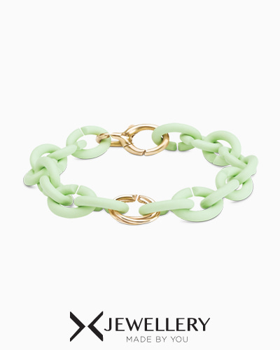 [X Jewellery] Mint Green Triple Tangle Bronze Bracelet