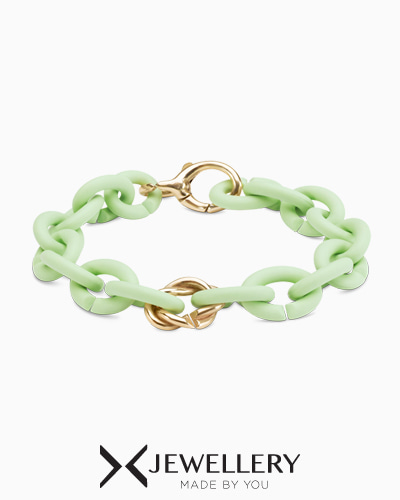 [X Jewellery] Mint Green Entangle Bronze Bracelet