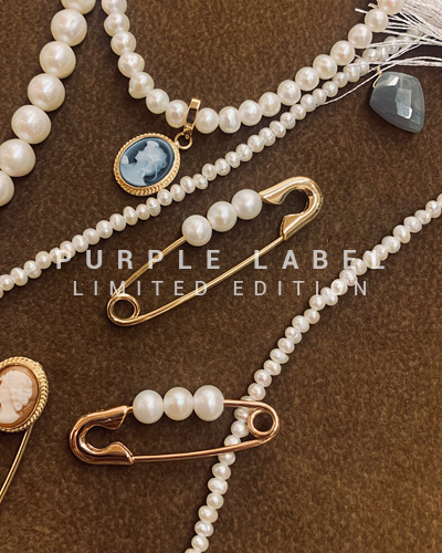 [Purple LABEL #21] 18K Pearl Unique Brooch Pin - Limited Edition